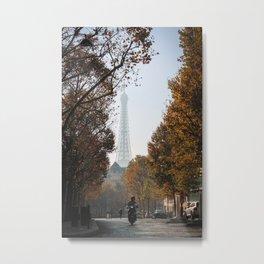 Paris in Autumn Metal Print