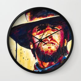 Pull Your Pistols Wall Clock