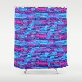 Natural blue lines Shower Curtain