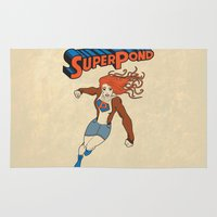 amy pond Area & Throw Rugs featuring SUPER POND by sophiedoodle
