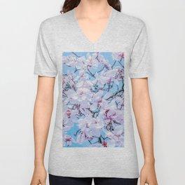 Vaporwave Magnolia Unisex V-Neck