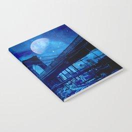 Full Moon Over Brooklyn Bridge Notebook