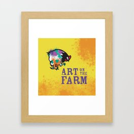 Hen Peck Yellow Framed Art Print