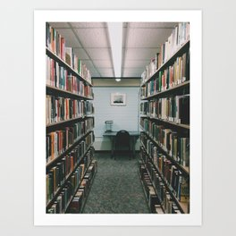 In the Library III Art Print