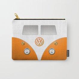 Orange VW Volkswagen Mini Van Bus Carry-All Pouch