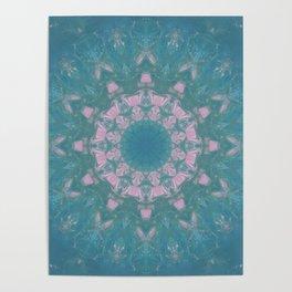 Navajo Turquoise Gemstone Mandala No. 40 Poster