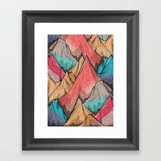 Mountain Layers Framed Art Print