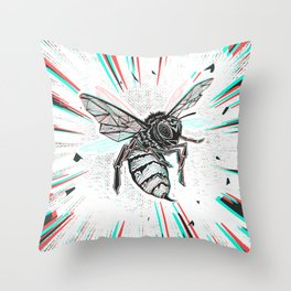 This wasp is pissed! Throw Pillow