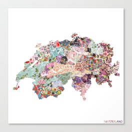Switzerland map Canvas Print
