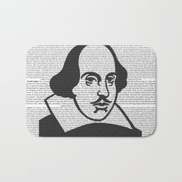 Words of Shakespeare Bath Mat