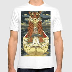 Life of Pi White MEDIUM Mens Fitted Tee