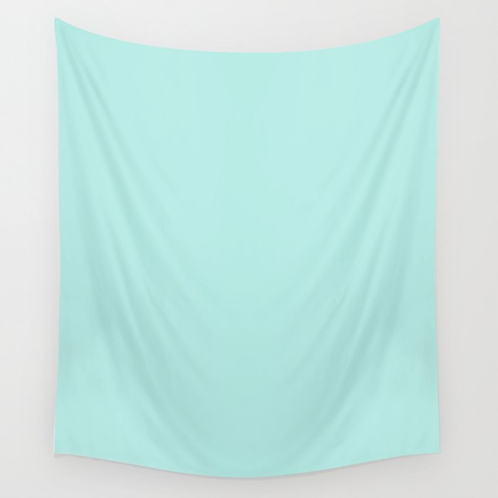 Simply aqua turquoise blue lightblue color - Mix and Match with Simplicity of Life Wall Tapestry