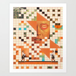 Orange poem Art Print