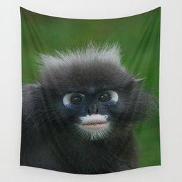Dusky Leaf Monkey Portrait Wall Tapestry