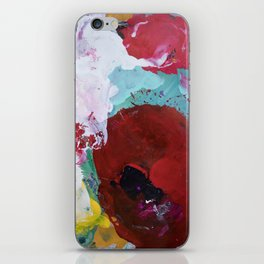 The Artist's Remains #3 (Poppy Abstract) iPhone Skin
