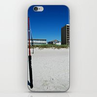 volleyball iPhone & iPod Skins featuring Volleyball and Blue Skies by Tammy Warren Designs