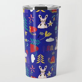 Tortoise and the Hare is one of Aesop Fables blue Travel Mug
