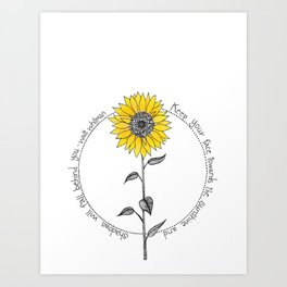 Walt Whitman Sunflower Illustration Kunstdrucke
