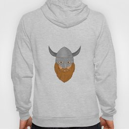 Viking Warrior Head Drawing Hoody