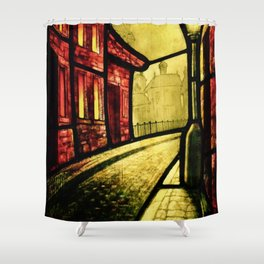 Lamplight Street Shower Curtain