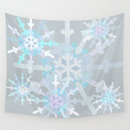 Beautiful Snowflakes Wall Tapestry