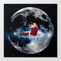 santa Canvas Prints featuring Santa by Cs025