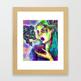 talking in technicolour  Framed Art Print
