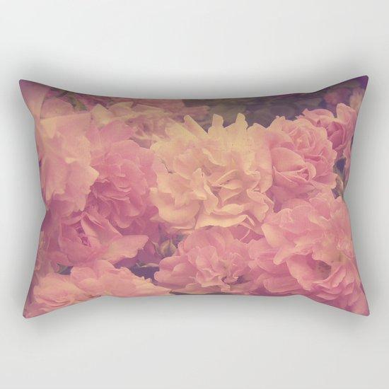 Wild Vintage Roses Rectangular Pillow
