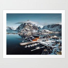 reine at landscape Art Print