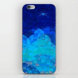 Deep Blue Night Sky Glow iPhone Skin