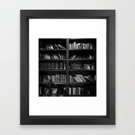 Antique Library Shelves - Books, Books and More Books Framed Art Print
