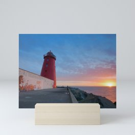 Respect & Unity, Sunrise, Poolbeg Lighthouse, Dublin Mini Art Print