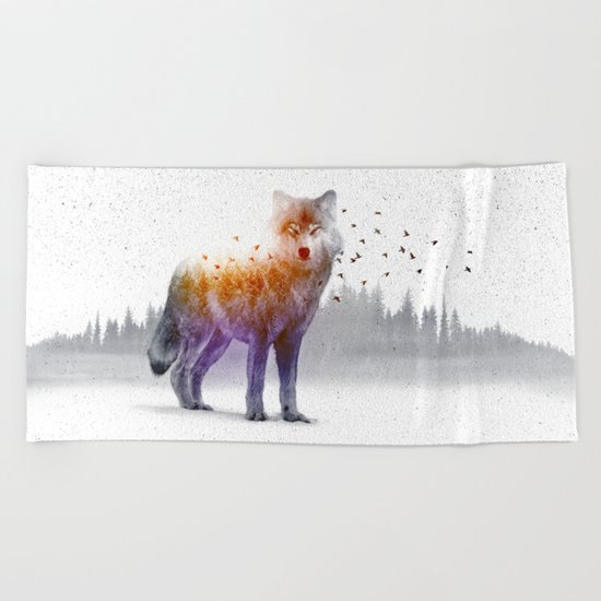 A Wilderness Within / Wolf Beach Towel