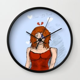 Lady in Strife Wall Clock
