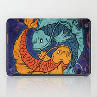 koi fish iPad Cases featuring Koi Fish by Spooky Dooky