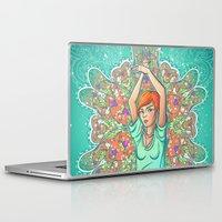 redhead Laptop & iPad Skins featuring Minty redhead by mZwonko