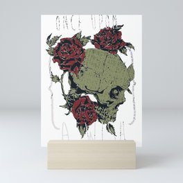 Skull and Roses - Once upon a wish Mini Art Print