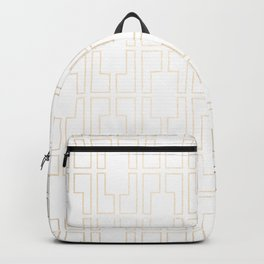 Simply Mid-Century in White Gold Sands Backpack