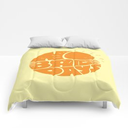 No Bad Days Retro Sun Comforters