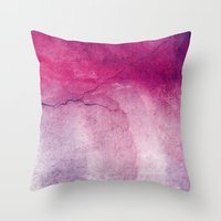 broken Throw Pillows featuring broken by Claudia Drossert