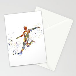 Soccer player in watercolor-16 Stationery Cards