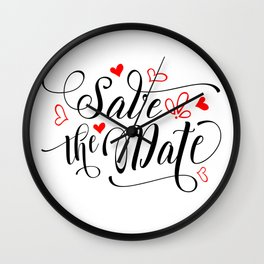 Save the date Wall Clock