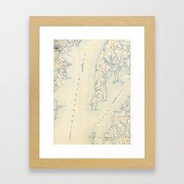 Vintage Annapolis MD & Chesapeake Bay Map (1902) Framed Art Print