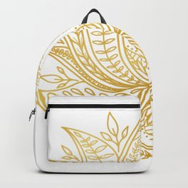 Botanical Lotus - Gold Backpack