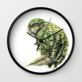 Mr Kākāpō Wall Clock