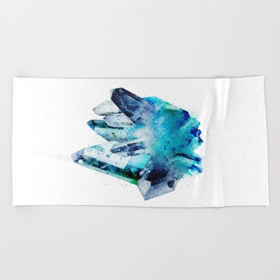 Watercolor Gemstone Beach Towel