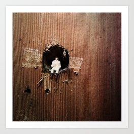 House Disaster Art - The Hole World Art Print