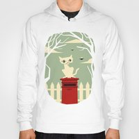yetiland Hoodies featuring Let's meet at the red post box by Yetiland