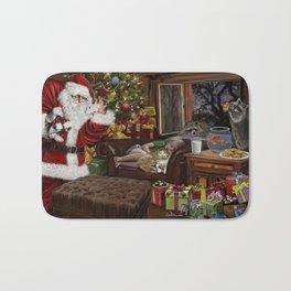 Snappy Santa Bath Mat
