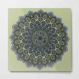 Ruhig Mandala Metal Print